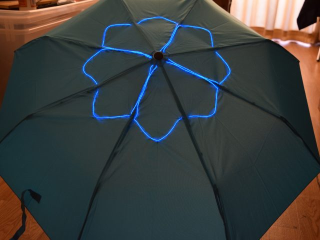 Halloween Umbrella using EL Wire