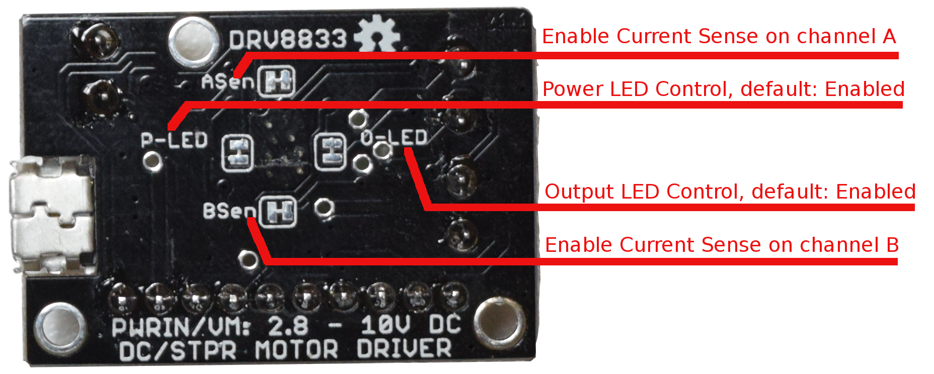 DRV8833 Current limiting feature