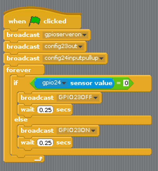 Controlling LED and Motors in scratch