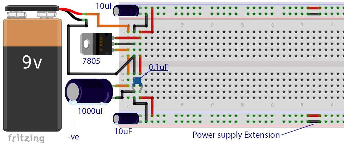tutorial  breadboard power supply