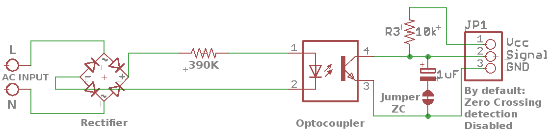 AC line Detection Schematics and Circuit