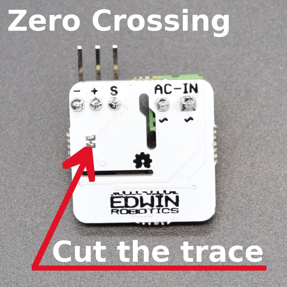 Zero crossing detection using AC line detector module